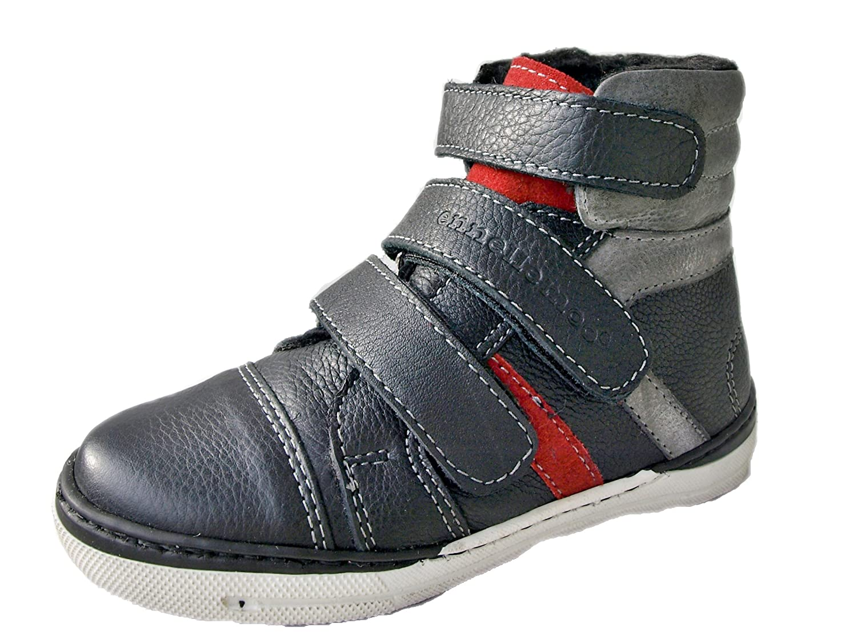 ennellemoo®-Jungen-Mädchen-UNISEX-Kinder-Boots-Sneaker-Stiefeletten-aus echt Leder-Vollleder mit Kunstfell/Lammfellimitat-warme Herbst/Winter -PREMIUM-Schuhe!