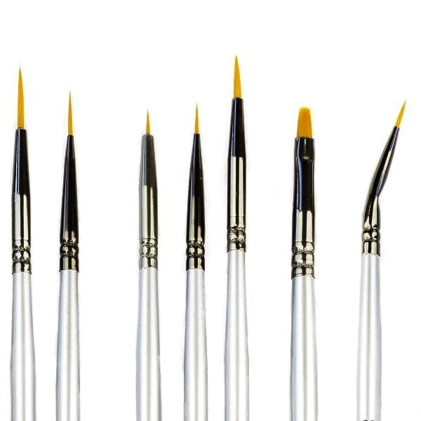 Miniature Paint Brush Set Professional Sable Hair Detail for Fine Detailing 1~7
