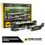 Work Sharp WSGSS Guided Sharpening System, bench-top knife sharpener, angle guides, diamond plates, ceramic hone, perfect for home, camp or field sharpening, sharpens all types of knives, fishhooks &common camp tools. (Color: Black)
