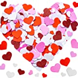 Tatuo 600 Pieces Foam Heart Foam Adhesive Hearts Stickers Mother's Day Valentine's Day Foam Heart Stickers for Arts Craft, Mother's Day Cards, Scrapbook Decoration (Foam Glitter Stickers) (Color: Foam Glitter Stickers)