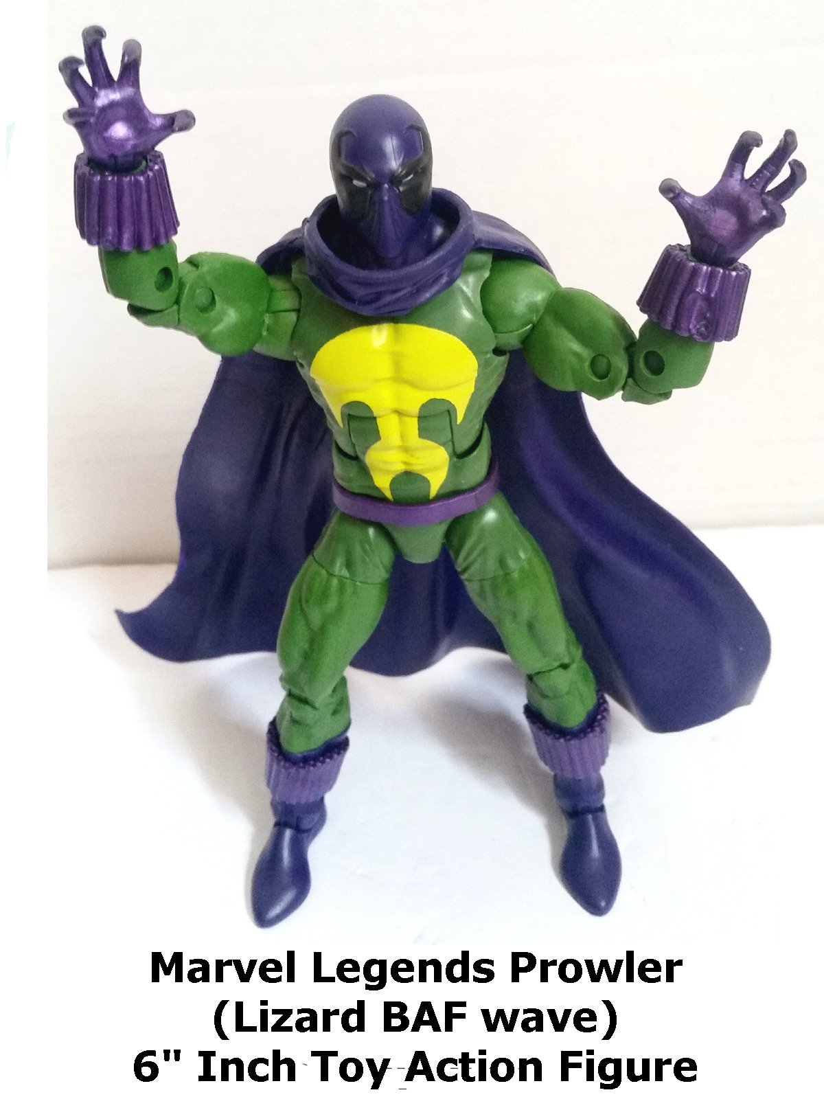 "Review: Marvel Legends Prowler (Lizard BAF wave) 6"" Inch Toy Action Figure"