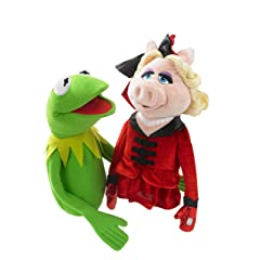Kermit the frog and Miss Piggy hand puppets from The Muppets