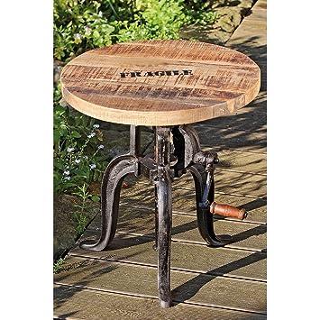 Table d'appoint genial 'FLEXO «à manivelle 50-74 cm hauteur de fer réglable