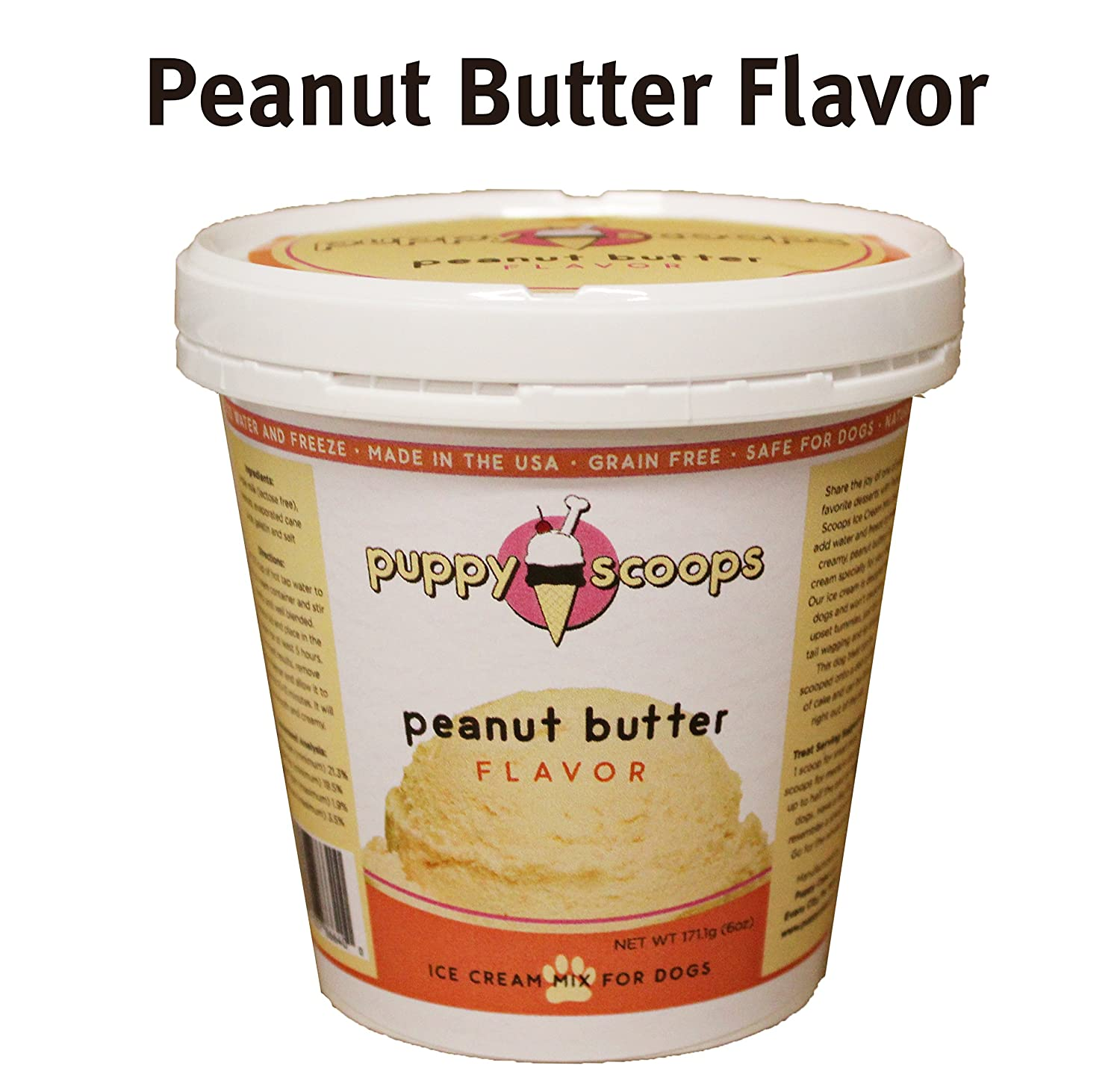 Peanut Butter Ice Cream Mix for Dogs