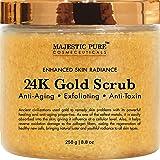 Majestic Pure 24K Gold Scrub, Body & Facial Scrub for Men and Women, Ancient Anti Aging Face and Body Scrub Formula Helps Bringing Youthful Radiance - 8.8 Oz (Tamaño: 8.8 fl Oz)