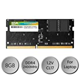 Silicon Power 8GB Single DDR4-2400 (PC4-19200) 260-Pin SO-DIMM Laptop Memory 1.2V Black (SP008GBSFU240B02) (Color: 8GB-2400MHz, Tamaño: 8GB-2400MHz)