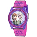 Disney's Frozen Kids' Digital Watch with Elsa and Anna on the Dial, Purple Casing, Comfortable Pink Strap, Easy to Buckle, Safe for Children - Model: FZN3598 (Color: Pink, Tamaño: Childrens)