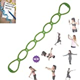 FOMI 7 Ring Stretch and Resistance Exercise Band | Back, Foot, Leg, and Hand Stretcher, Arm Exerciser | Portable | for Home or Fitness Center Workout, Physical Therapy (Color: Green; Light Resistance)