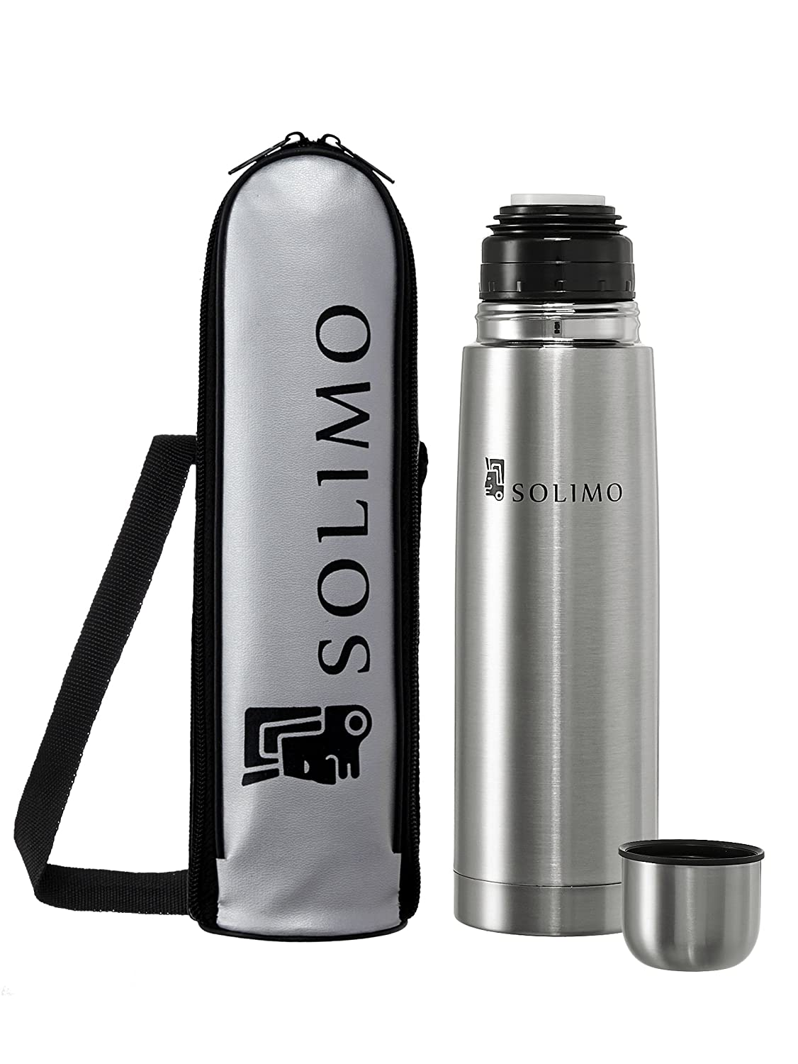 Upto 40% Off On Solimo Home Products By Amazon | Solimo Thermosteel Flask, 500ml, Silver @ Rs.449