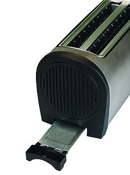 4 scheiben toaster toastautomat edelstahl langschlitz. Black Bedroom Furniture Sets. Home Design Ideas