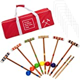 Coca Cola 24 Piece 6 Player Croquet Set - Complete Game with Carrying Case