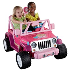 Fisher-Price Power Wheels Barbie Jammin Jeep Wrangler
