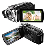 Camcorder, HAMSWAN Digital Camcorder Full HD Video Camera 1080P 24MP, 16X Digital Zoom, 3.0 Inch LCD Screen with 270 Degree Rotation, HDMI Output (Color: Digital camcorder)