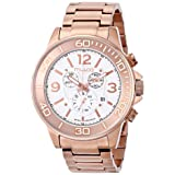 MULCO Unisex MW4-90147-331 Analog Display Swiss Quartz Rose Gold Watch (Color: White)