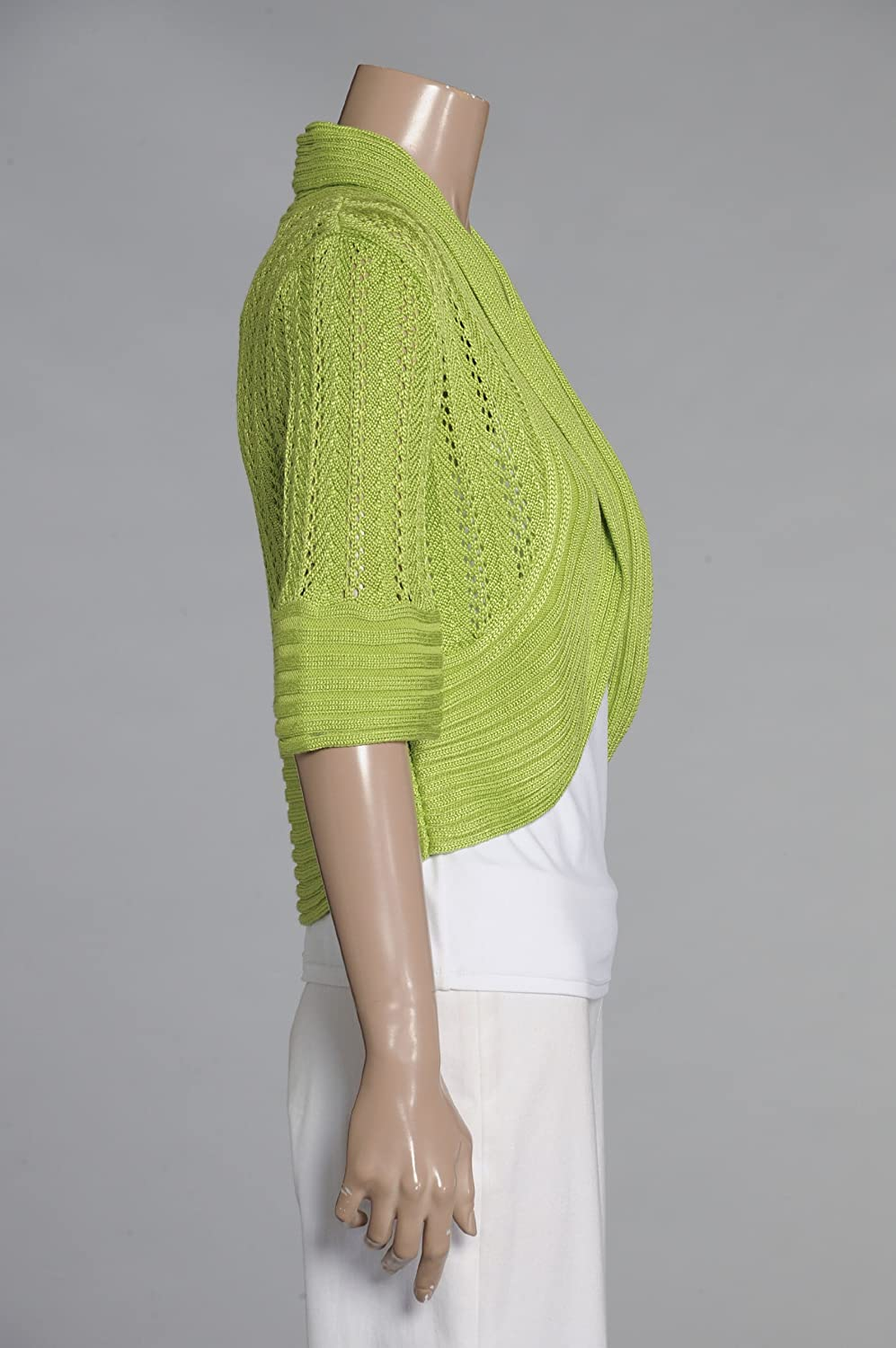 Pointelle Elbow Sleeve Shrug