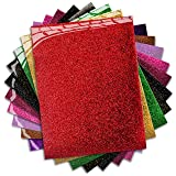MiPremium PU Heat Transfer Vinyl - Iron On Vinyl Starter Pack, Assorted HTV Glitter Bundle Kit of Heat Press Vinyl in 10 Most Popular Colors, Easy to Cut & Press Glitter HTV Vinyl (Glitter X 10) (Color: GLITTER X 10)