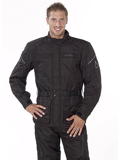 NERVE 1510110404_08 Smart Blouson Moto Touring Textile, Noir, Taille : 4XL