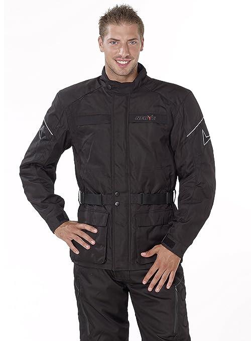 NERVE 1510110404_05 Smart Blouson Moto Touring Textile, Noir, Taille : XL