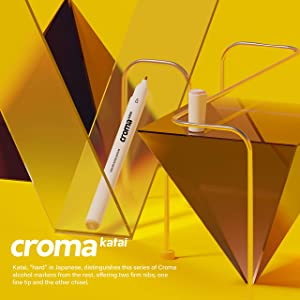 Croma Katai Fine Dual Tip Alcohol Based Sketch Markers, 72 A/B/C Set, Ergonomic, Odorless, Replaceable Nibs, for Coloring Manga, Comic, Illustrations Art, Design with Durable Portable Bag (72 B) (Color: 72 B)