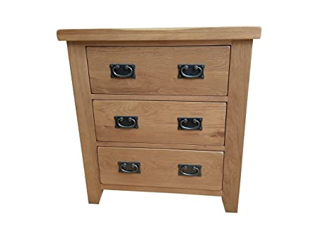 Westminster Rustic Oak 3 Drawer Chest of Drawers