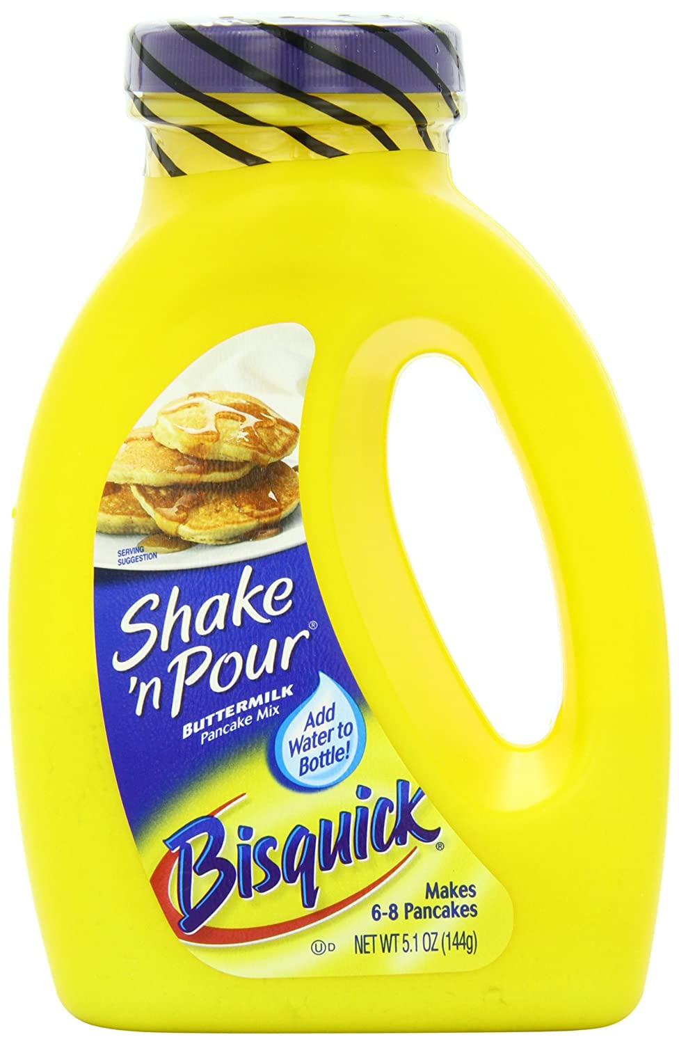 Bisquick Shake 'N Pour Buttermilk Pancake Mix, 5.1-Ounce Containers (Pack of 12)