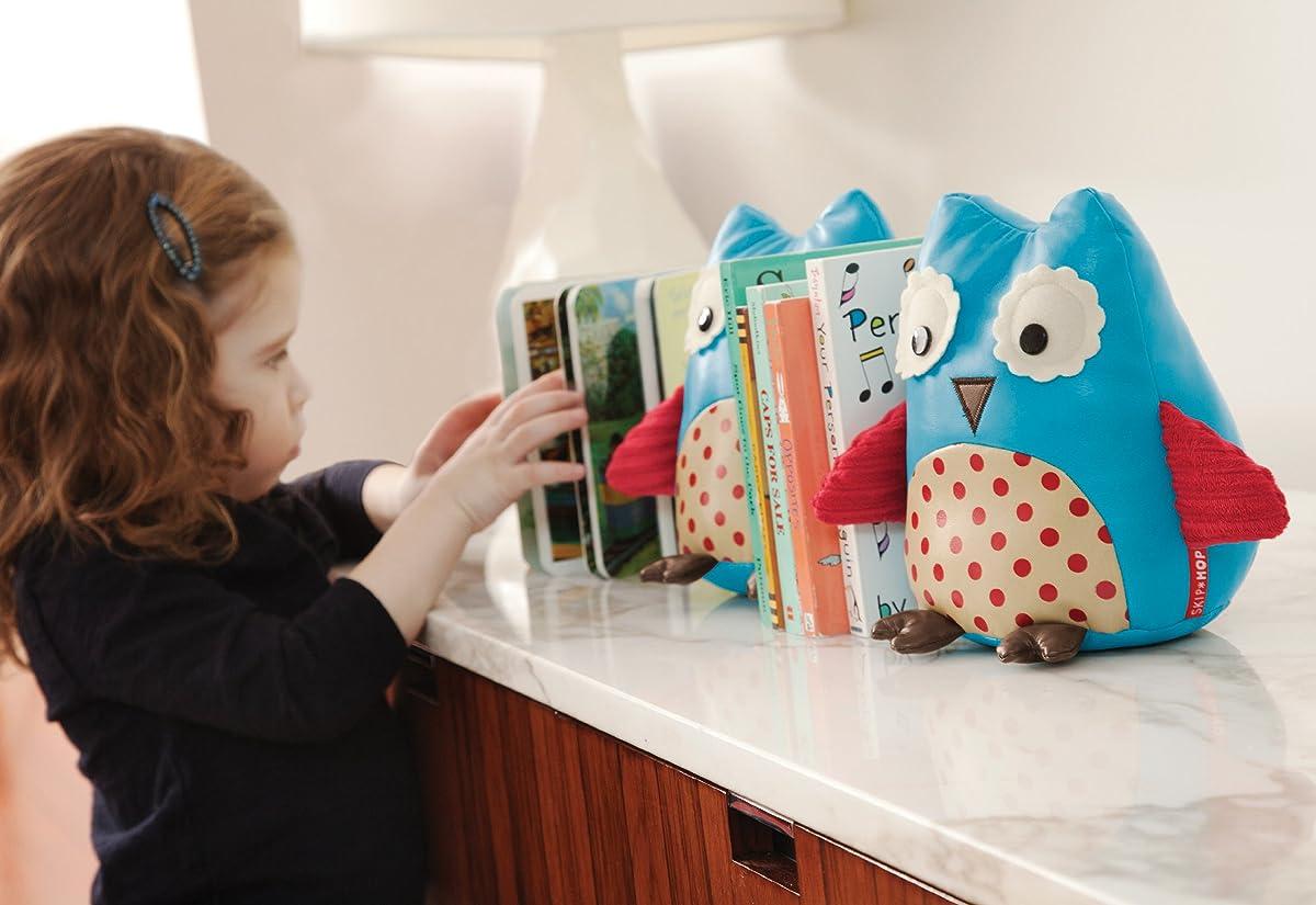 Skip Hop Set of 2 Zoo Bookends, Owl