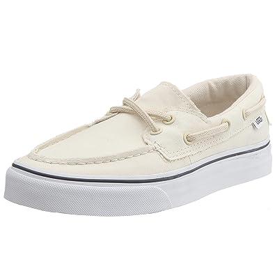vans boat shoes white