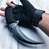 10'' TACTICAL COMBAT KARAMBIT KNIFE BestSeller989 Survival Hunting BOWIE Fixed Blade (Color: black)