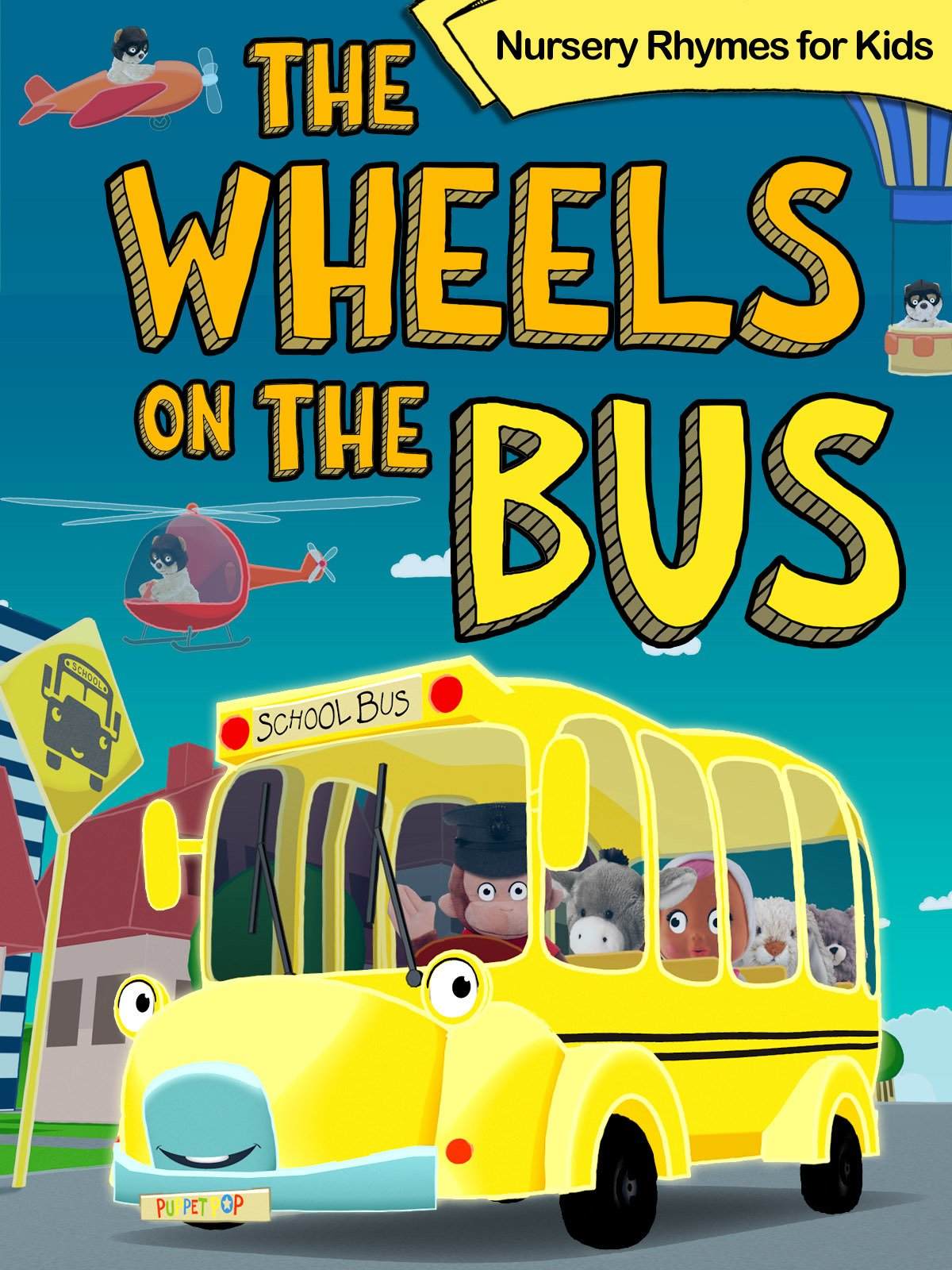 The Wheels on the Bus, Nursery Rhymes for Kids
