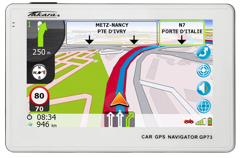 Navigation GPS TAKARA GP73 BLANC EUROPE