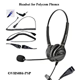 Polycom SoundPoint and Allworx IP Phones Dual Ear Call Center Headset