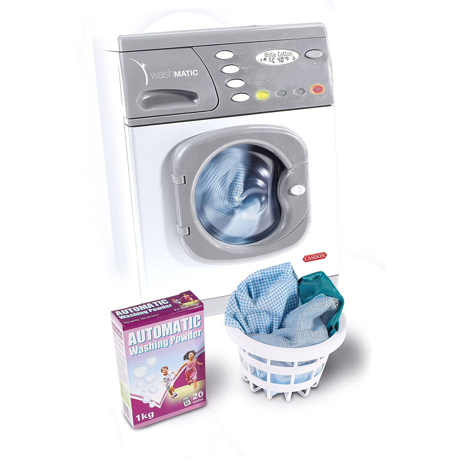 casdon hotpoint electric toy washer washing machine with. Black Bedroom Furniture Sets. Home Design Ideas