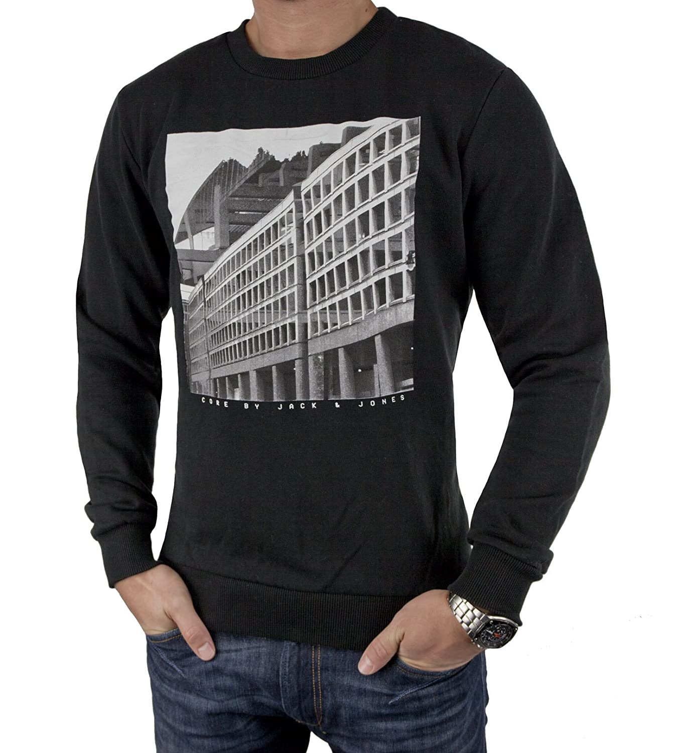 Jack & Jones GUZEL Sweat Crewneck 12088120 Core Sweatshirt Pullover Grey günstig bestellen