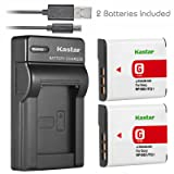 Kastar Battery (X2) & Slim USB Charger for Sony NP-BG1 NPBG1 NP-FG1 NPFG1 and Cyber-shot DSC-W120 W150 W220 DSC-H3 H7 H9 H10 H20 DSC-H50 DSC-H55 DSC-H70 DSC-HX5V DSC-HX7V DSC-HX9V DSC-HX10V DSC-HX30V (Tamaño: 1 Slim charger + 2 batteries)