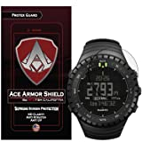 Ace Armor Shield Shatter Resistant Screen Protector for the suunto core all black military with free lifetime replacement warranty (Color: Clear, Transparent)
