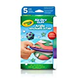Crayola Air Dry Clay, Modeling Clay for Kids, 5 Single Pack (Color: Brights, Tamaño: 5 Pack)