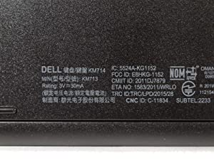 Dell Consumer 5HT18 KM714 Wireless Mouse and KB (Color: black)