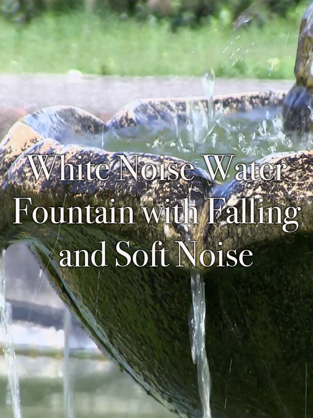 White Noise Water Fountain with Falling Water and Soft Noise