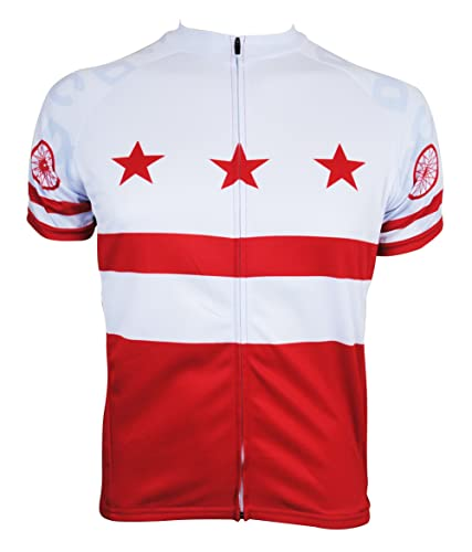 washington dc cycling jersey based on their red and white flag