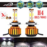 New Arrival Car H4 LED Headlight Bulb HB2 9003 24000LM 4-Side High-Low Dual Beam Super Bright - 6000K Pure Cool White Plug n Play Fog/Head Light Replacement (Tamaño: H4/HB2/9003)