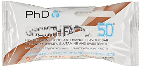 PHD Growth Factor 50 Brownie - Chocolate Orange (12 Brownies), 1er Pack (1 x 1.2 kg)