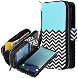 Galaxy S8 Plus Case, E LV Galaxy S8 Plus Case Cover - PU Leather Flip Folio Wallet Purse Case Cover for Samsung Galaxy S8 Plus - [Zigzag] (Color: ZIGZAG)