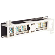 Morris Products 88042 Cat 5E Vertical 12 Port Patch Panels, 12 Port Vertical