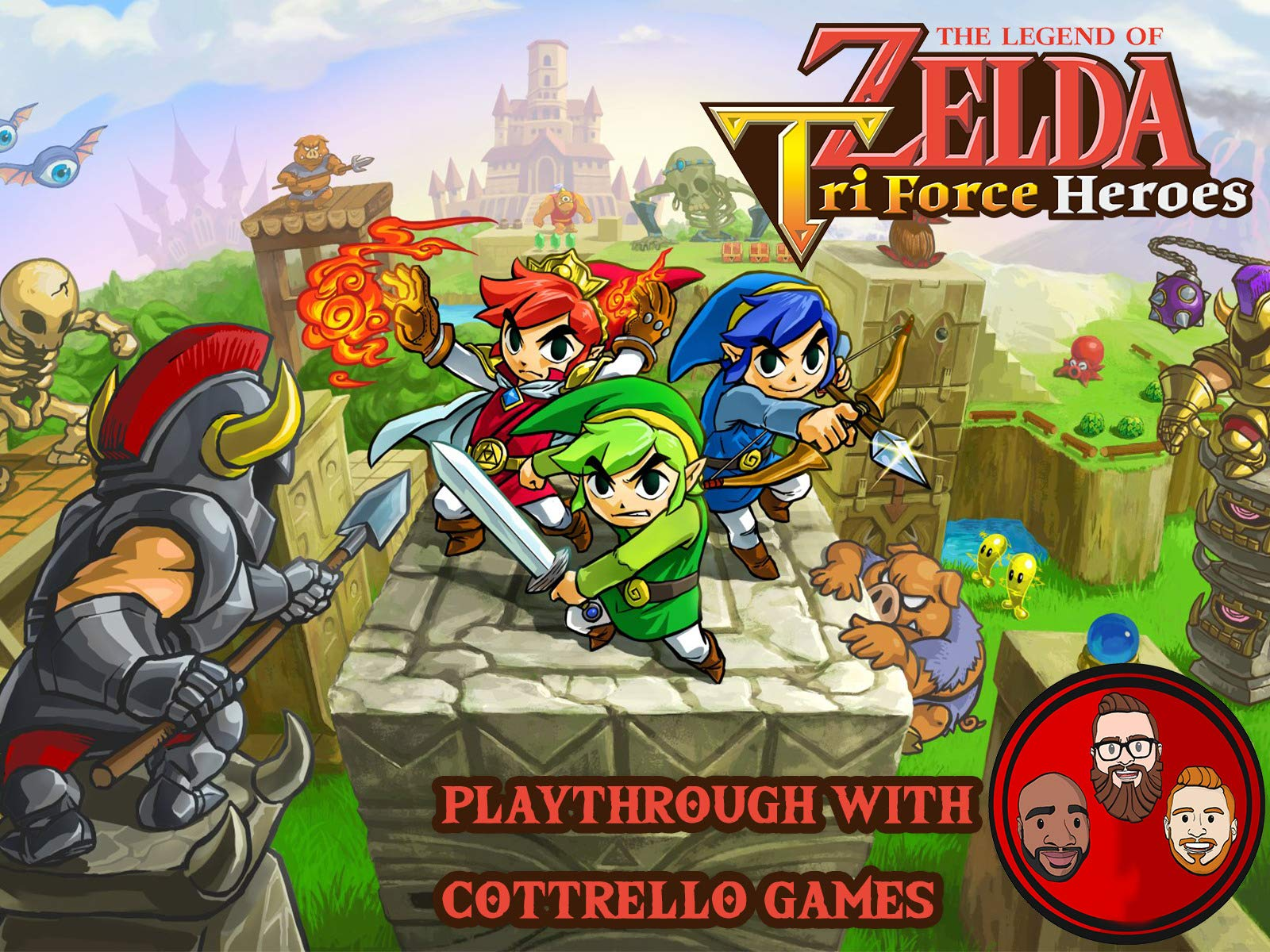 The Legend of Zelda: Tri Force Heroes Playthrough with Cottrello Games - Season 1