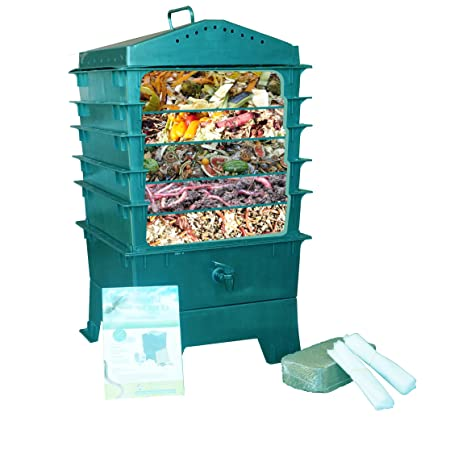 This Compost Bin Uses The Power Of Worms To Break Down Kitchen Scraps And  Comes Complete With Five Working Trays (expandable Up To Seven) To Keep  Worms, ...