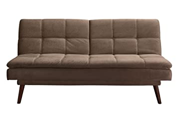 DHP The Bex Futon Tufted Pillowtop Sleeper Sofa, Faux Leather