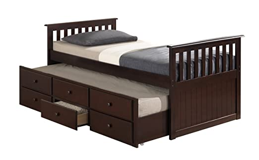 Captain Trundle Bed With Drawers Captain's Bed With Trundle