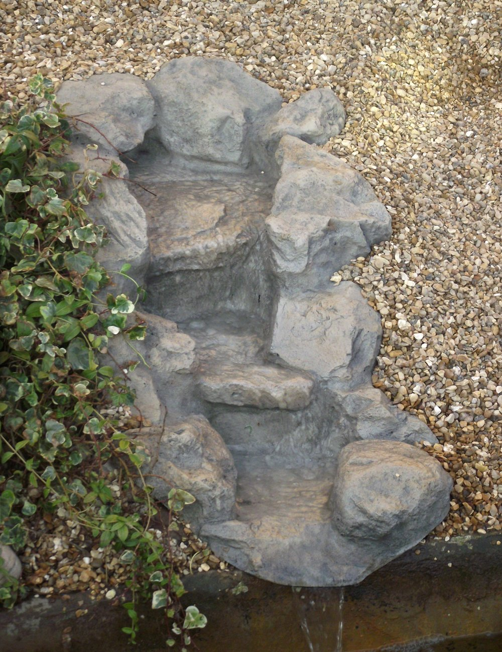 Atlantis Double Step Waterfall, Preformed Resin Waterfall       Customer reviews and more information