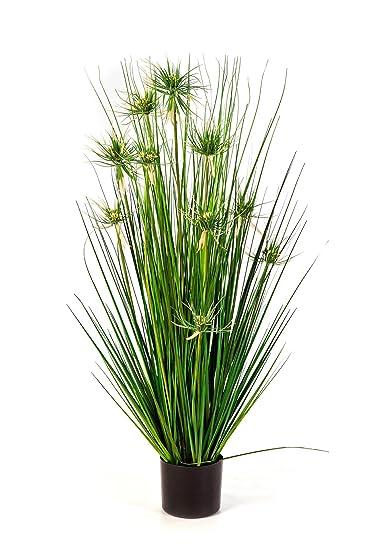 Set 2 xJunco fino artificial SHIRO, con 10 panojas, verde, 105 cm - 2 unidades de hierba / planta sintética - artplants
