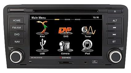Zenec ZE-NC3131D GPS Bluetooth Noir